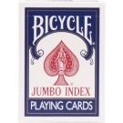 Pokerkaarten Bycicle Jumbo Blauw