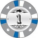 Pokerchip Clay value 1