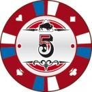 Pokerchip Clay value 5