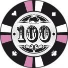 Pokerchip Clay value 100