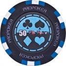 Pokerchip Pro-Poker Clay value 50