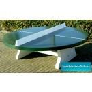 Tafeltennistafel beton rond groen