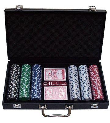 Pokerkoffer Leer 300 pokerchips