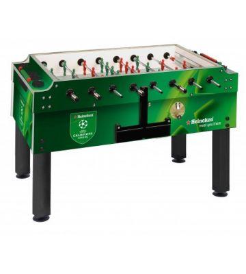 Bedrukte Garlando voetbaltafel met muntinworp Heineken
