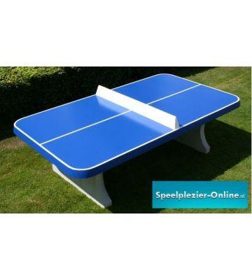 Beton tafeltennistafel Blauw afgerond