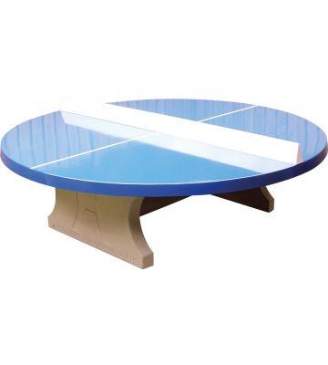 Tafeltennistafel beton rond blauw