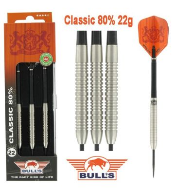 Bull's Classic 80% dartpijlen set 22gr.