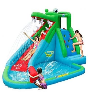 happy hop crocodile water slide