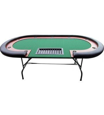 Pokertafel High Roller Zwart