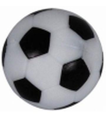 Tafel voetbal balletje zwart wit met profiel
